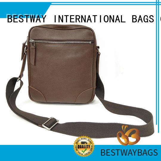 side leather computer bag sling manufacturer