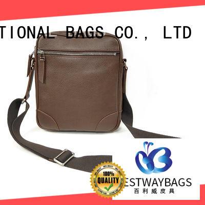 Bestway stylish leather handbags mens for school