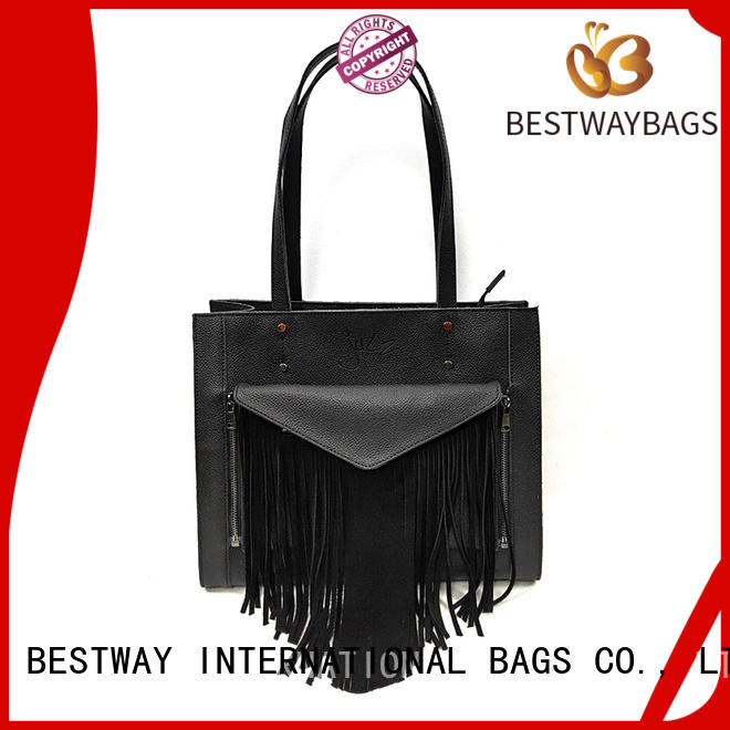 Bestway popular round leather bag business for daily life