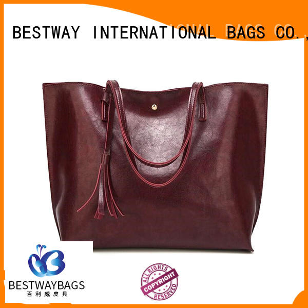 Bestway real pu leather bag supplier for girl