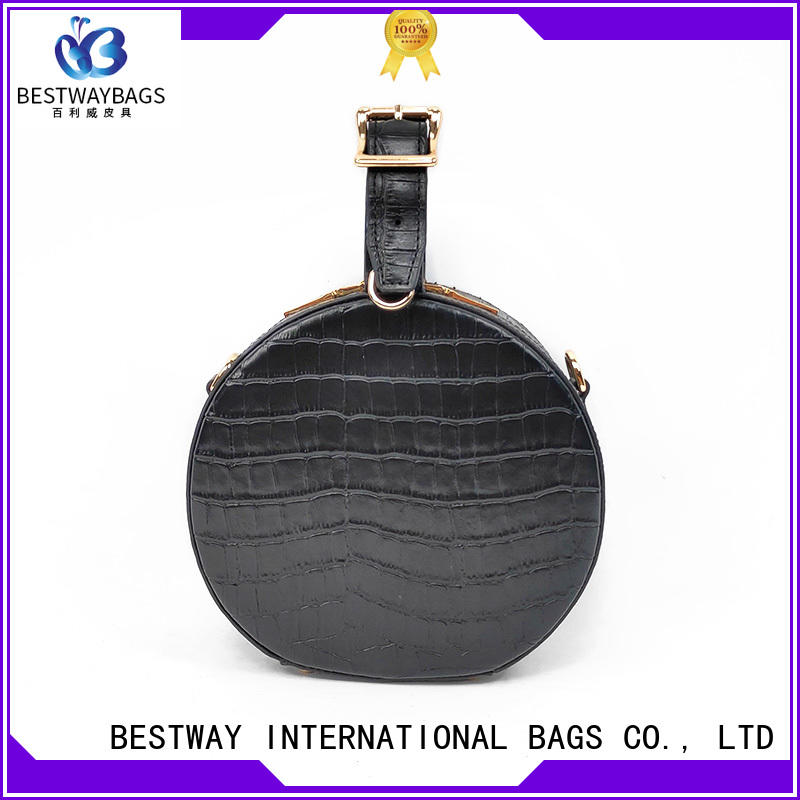 Bestway black leather bag online for daily life