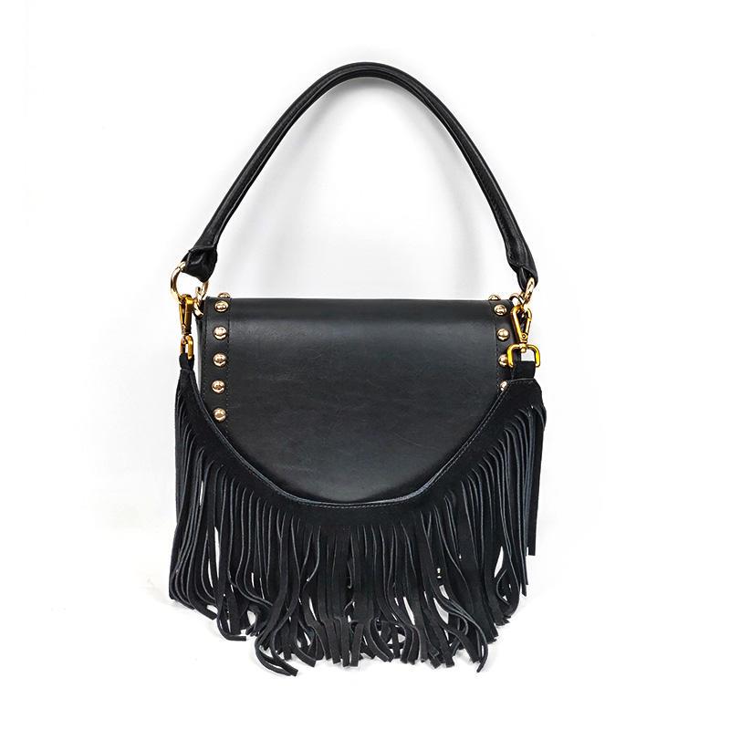 Latest Black Fashion Summer Leather Shoulder Bags For Women