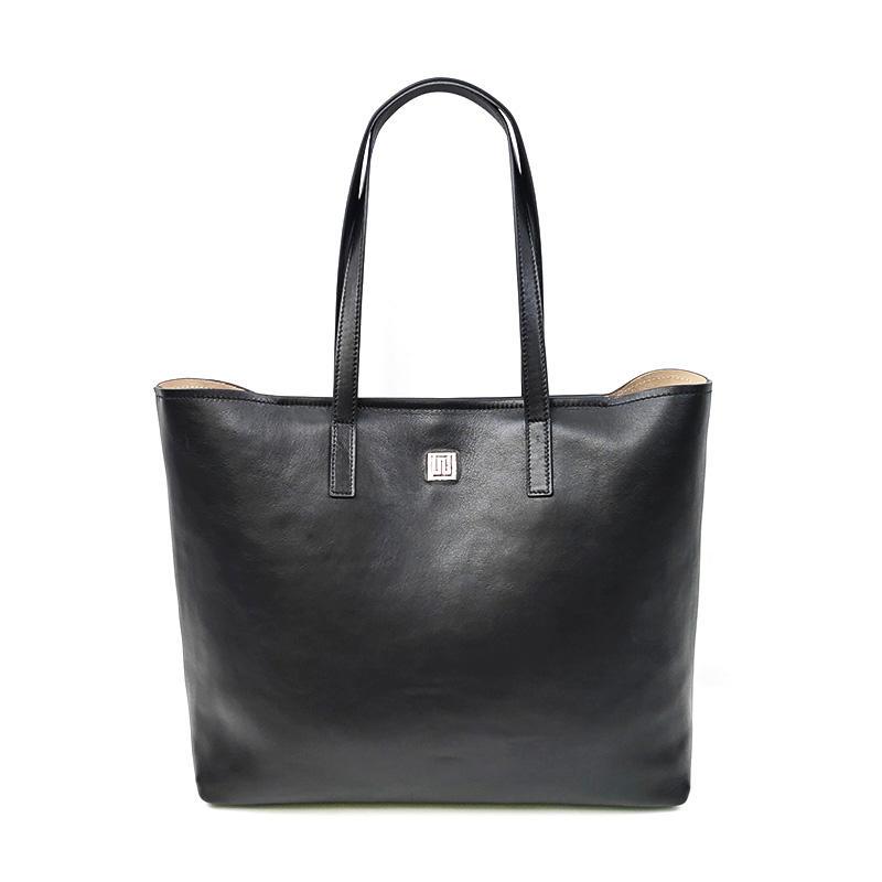China Organizer Black Big Women Leather Tote Bag Handbags