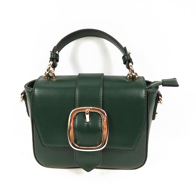 Customized Wholesale Latest Name Brand Green New Small Ladies Handbags