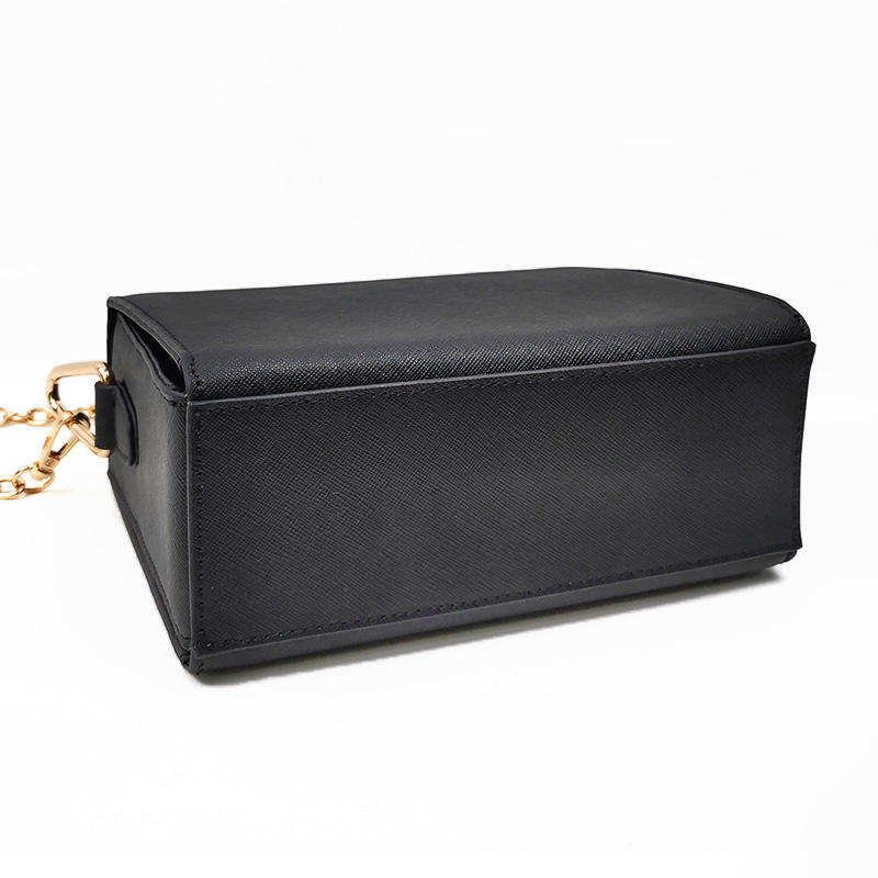 Inexpensive Designer Beautiful Italian Unique Black Leather Shoulder Handbag On Sale