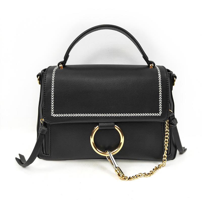 Custom Wholesale China Small New Black Handmade Metal Logo Handbags For Ladies