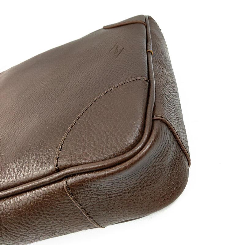 Custom Vintage Quality Mini Soft Genuine Leather Men's Sling Bag With Wide Strap