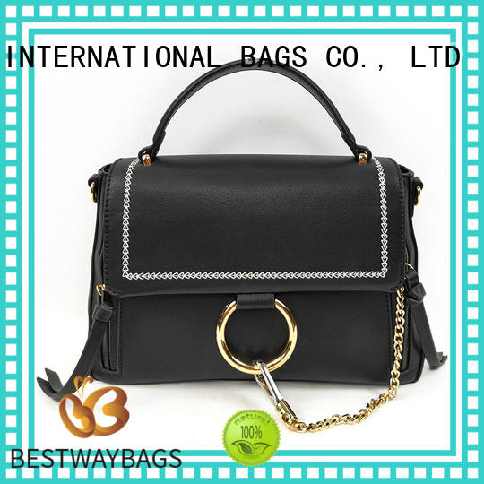 Bestway large pu leather bag supplier for ladies
