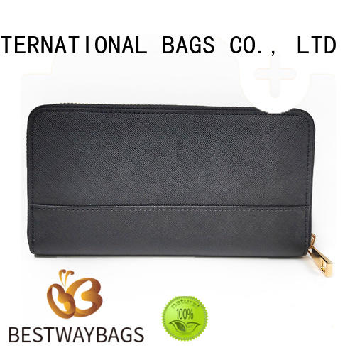 Bestway stylish woven leather handbag manufacturer for daily life