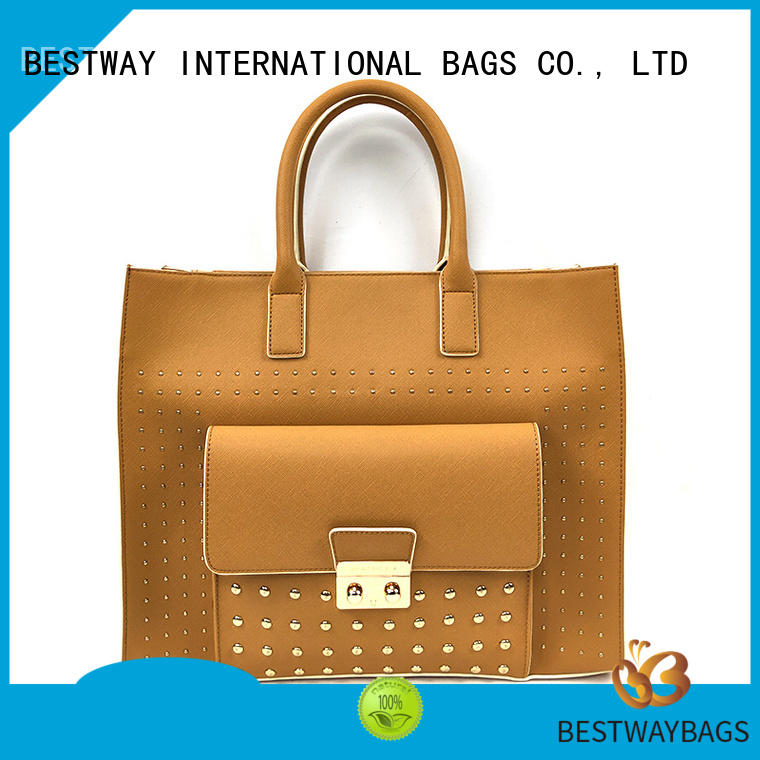 leisure pu leather tote bag customized online for women