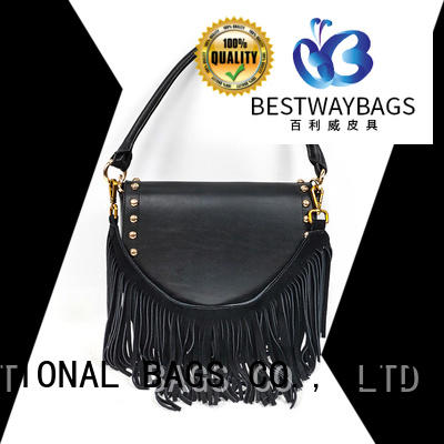 Bestway ladies women's large leather handbags manufacturer for date