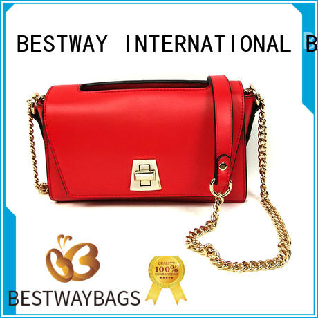 Bestway office fashion leather bags supplier for girl