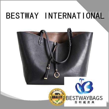 Bestway trendy genuine leather handbags smart for work