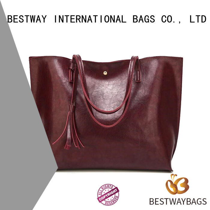 Bestway beautiful pu leather bag supplier for women