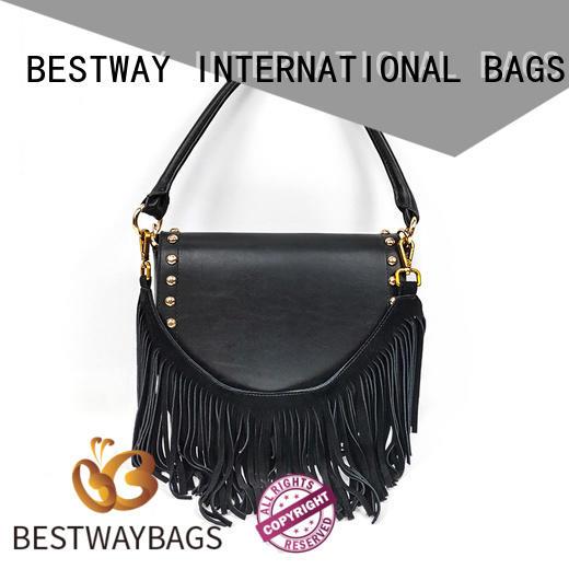Bestway trendy women's leather handbags soft for school