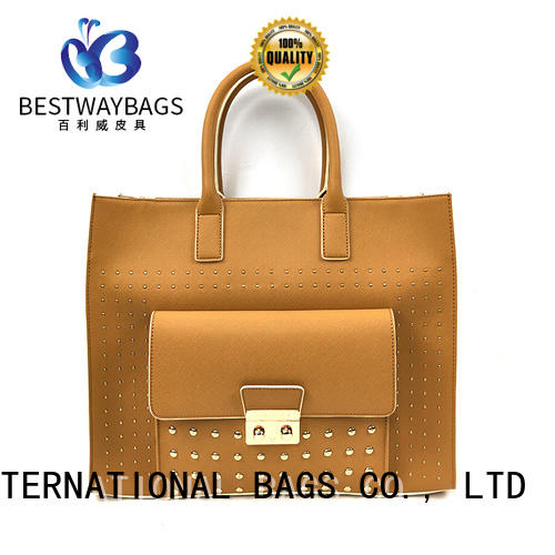 Bestway boutique pu leather tote bag for sale for girl