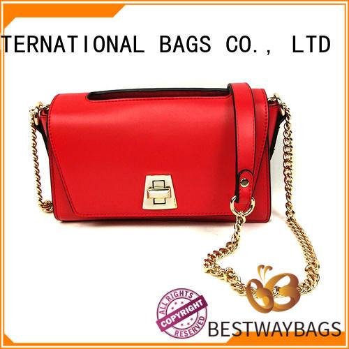 Fashion Online Luxury Red Handbags Shoulder Bags For Women With Chain Strap  and Nylon Strap
