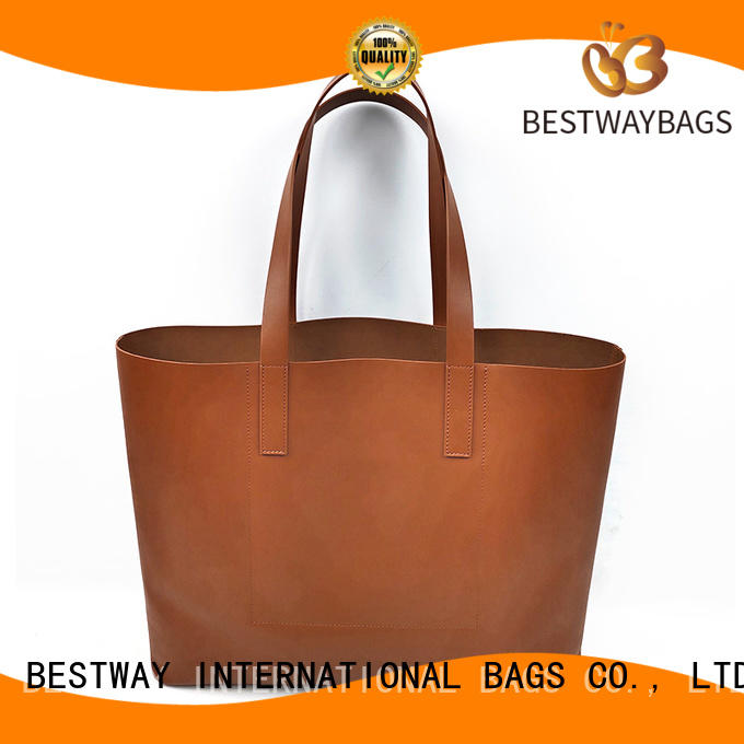 Bestway satchel poly leather supplier for girl