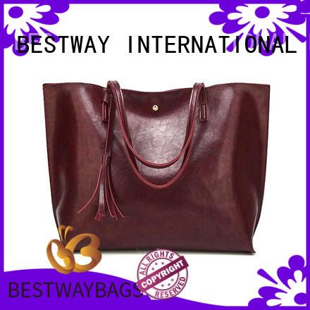 Bestway fashion polyurethane bag supplier for lady