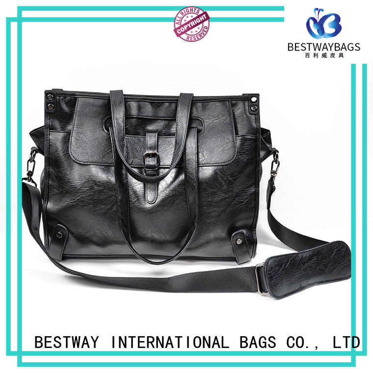 Wholesale Cheap Large Office Messenger Pu Work Bags for Men