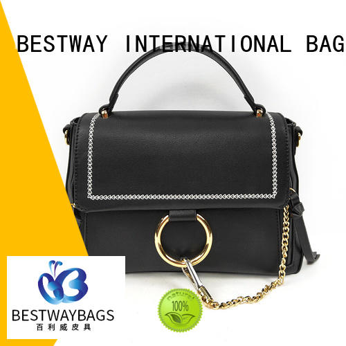 Bestway boutique pu leather bag supplier for lady