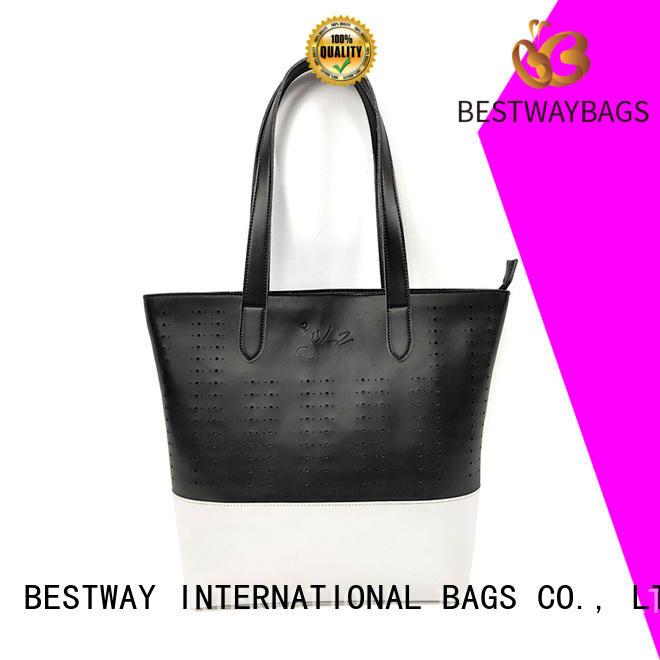 simple polyurethane bag logo supplier for lady