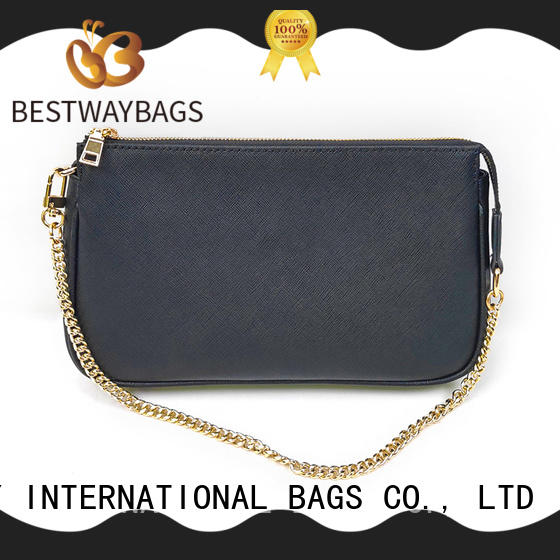 Bestway fashion black and brown leather handbags wildly for daily life