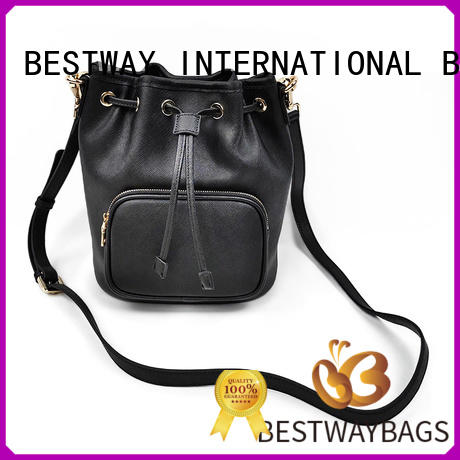 Small Saffiano Leather Shoulder Bag Bucket Handbags For Women