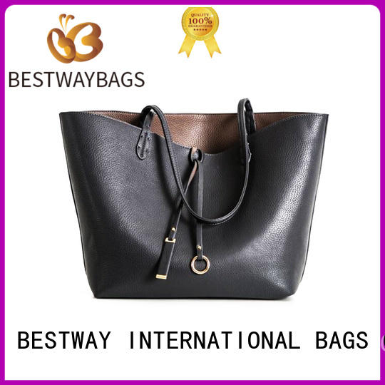 Bestway customized real leather tote wildly for daily life