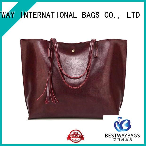 Bestway logo polyurethane purse for sale for girl