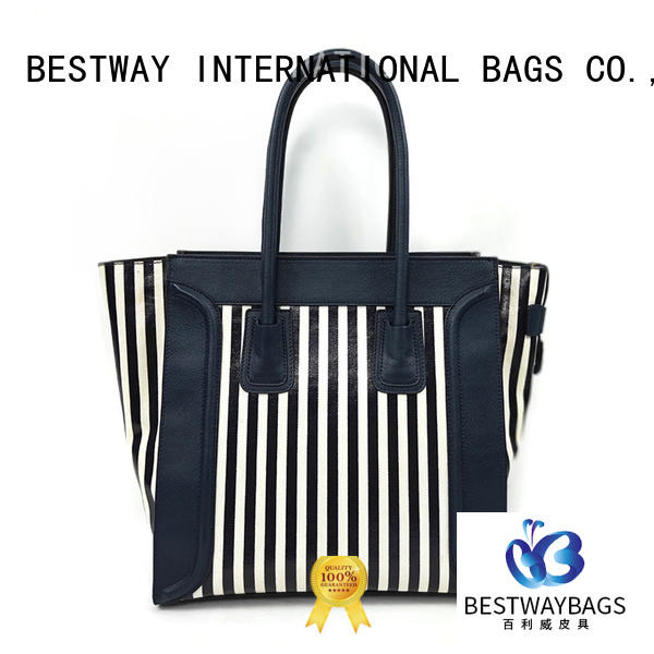 handbags canvas tote with leather handles branded for shopping Bestway