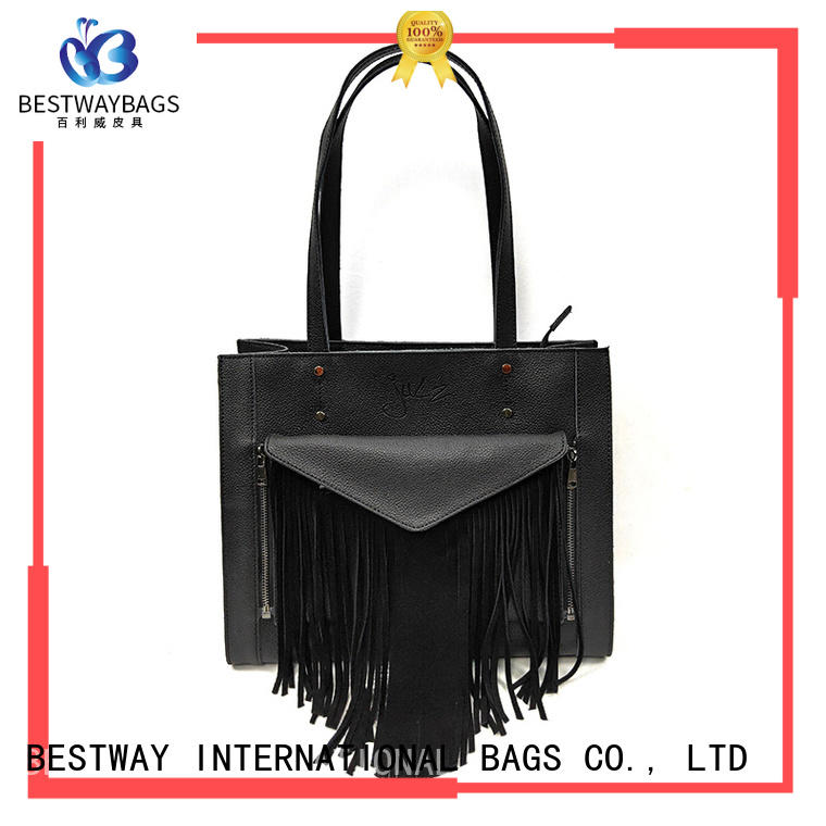 Bestway ladies brown leather bag vintage for daily life
