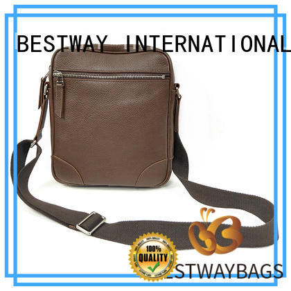 Bestway side leather laptop bag tote for date