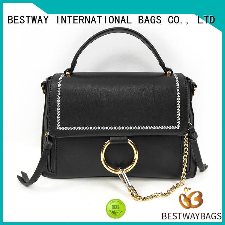 Bestway generous pu designer handbags supplier for ladies