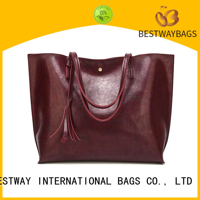 Bestway fashion pu leather bag online for lady