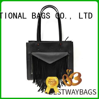 Bestway designer brown leather bag ladies wildly for school