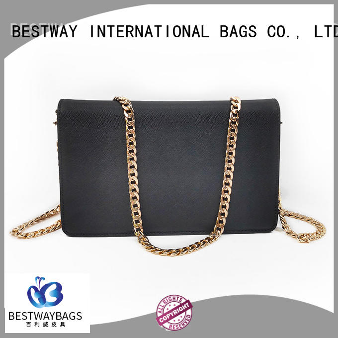 Bestway stylish leather wallet purse manufacturer for school