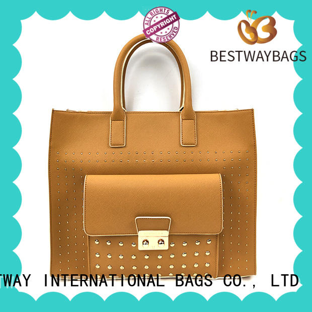 simple pu leather tote bag for sale for girl Bestway