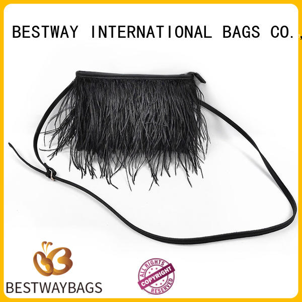 Bestway simple pu leather bag soft for women