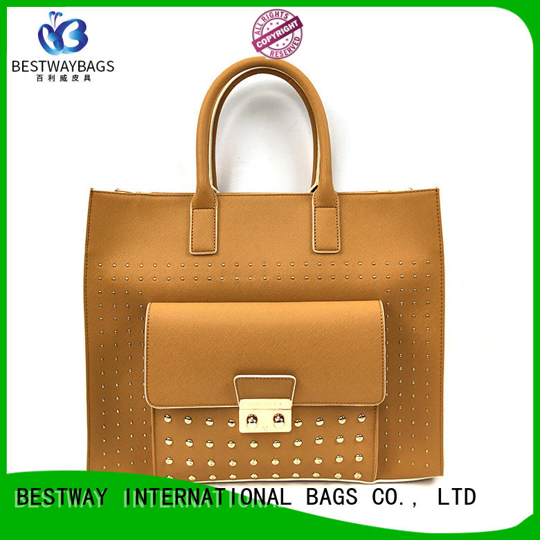 simple pu leather bag tan Chinese for girl
