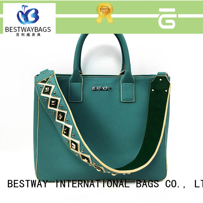 Bestway chain pu leather bag supplier for lady