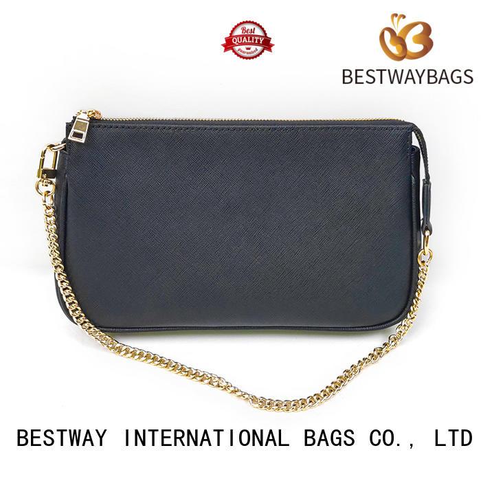 Bestway trendy black and brown leather bag wildly for school