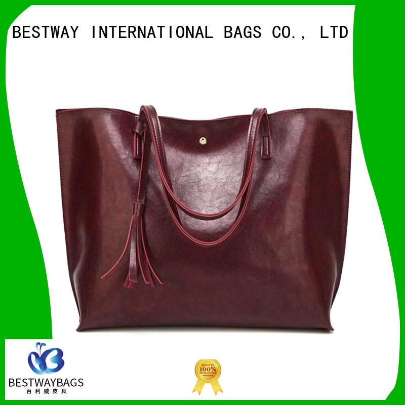 Bestway boutique polyurethane bag logo for lady
