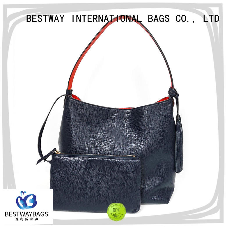 Bestway stylish brown leather bag wildly for date