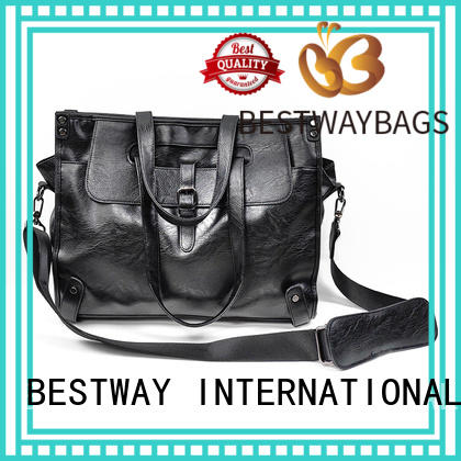 Bestway generous pu leather tote leather for girl