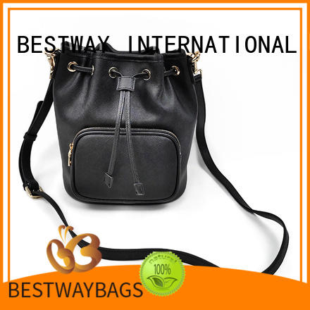 stylish leather handbags bucket manufacturer for work