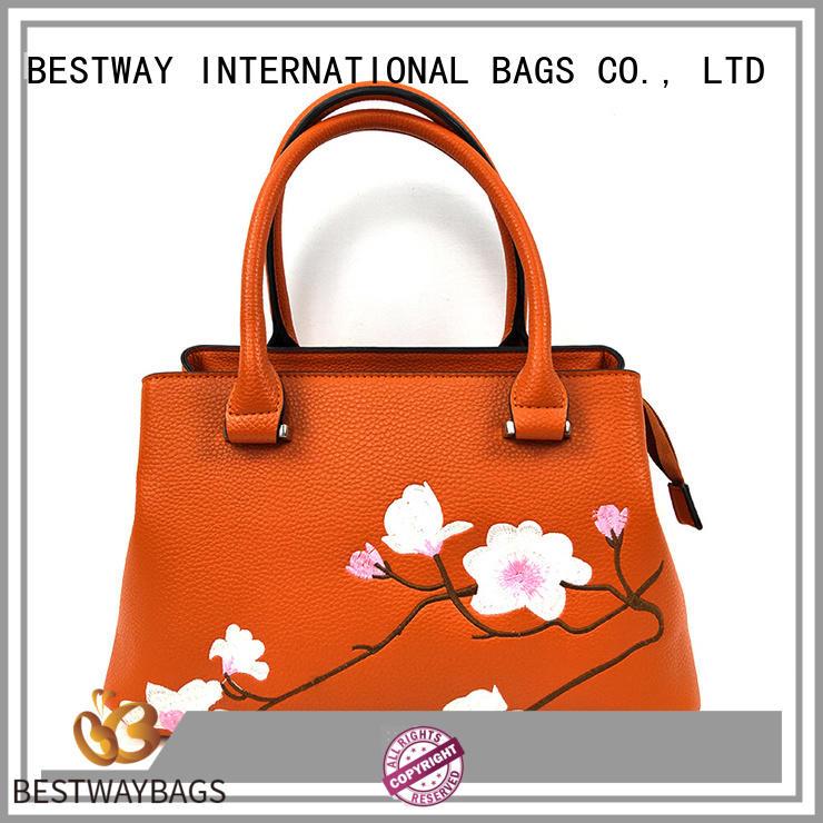 Bestway elegant polyurethane pu leather Chinese for lady