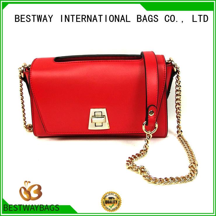 simple polyurethane bag work supplier for lady
