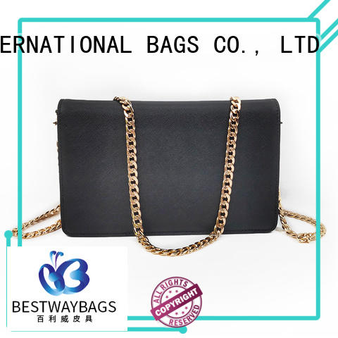 Bestway popular black leather purse hand for date
