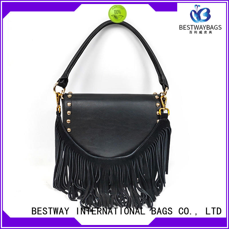 Bestway stylish leather bag backpack manufacturer for date